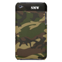 Military Camoflauge Camo Green Personalized Case-Mate iPod Touch Case
