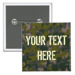 Military camouflage 2 inch square button