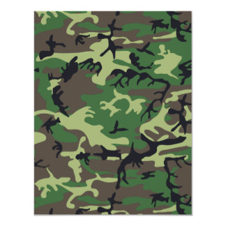 Military Camouflage 4.25x5.5 Paper Invitation Card