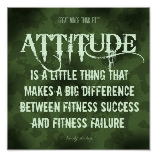Military Camouflage: Attitude for Fitness Success Poster