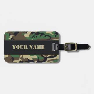 Military Camouflage Bag Tag