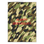 Military camouflage birthday card
