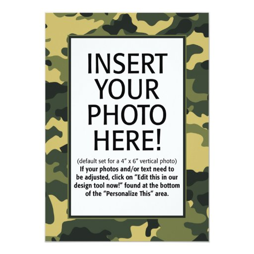 Camouflage Birthday Invitations could be nice ideas for your invitation template