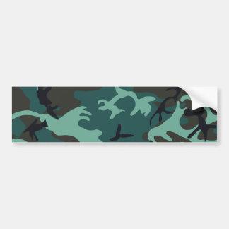 Military Camouflage Bumper Sticker