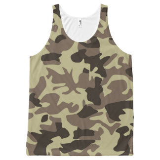 Military Camouflage Classic Camo Pattern All-Over-Print Tank Top