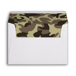 Military Camouflage Classic Camo Pattern Envelope