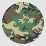 Military Camouflage Classic Round Sticker