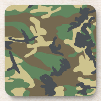 Military Camouflage Cork Coaster