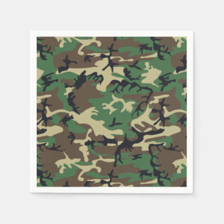 Military Camouflage Disposable Napkin