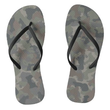 Beach Themed Military Camouflage Flip Flops