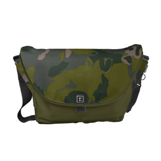Military camouflage for army soldier Vietnam style Messenger Bag