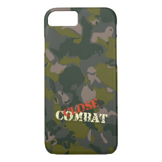 Military camouflage for soldier: close combat war iPhone 7 case