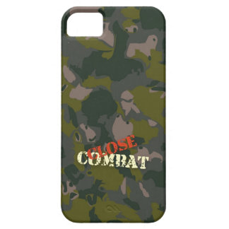Military camouflage for soldier: close combat war iPhone SE/5/5s case