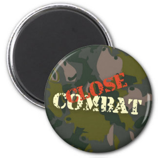 Military camouflage for soldier: close combat war magnet