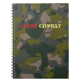 Military camouflage for soldier: close combat war notebook