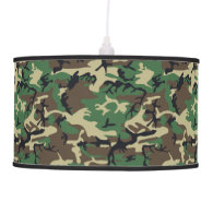 Military Camouflage Hanging Pendant Lamp