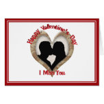 Military Camouflage Happy Valentine's Day Greeting Card