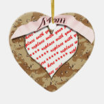 Military Camouflage Heart Shaped Photo Frame Christmas Ornament