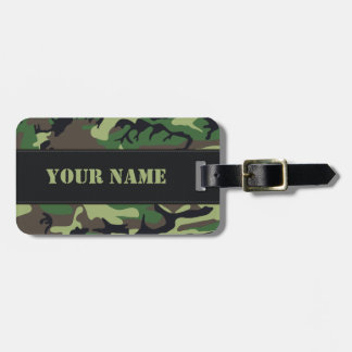 Military Camouflage Luggage Tag