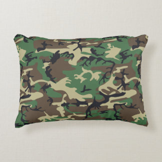 Military Camouflage Accent Pillow