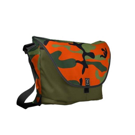 Military Camouflage Messenger Bag Orange