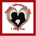 """Military Camouflage """"Miss You"""" Photo Cutout"""