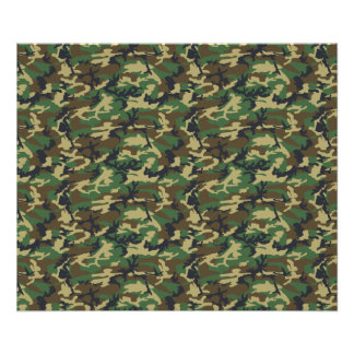 Military Camouflage Pattern - Brown Yellow Green Poster