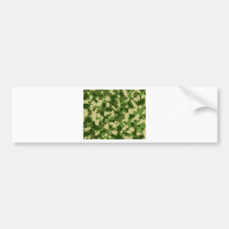 military-camouflage-pattern bumper sticker