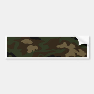 military camouflage pattern bumper sticker