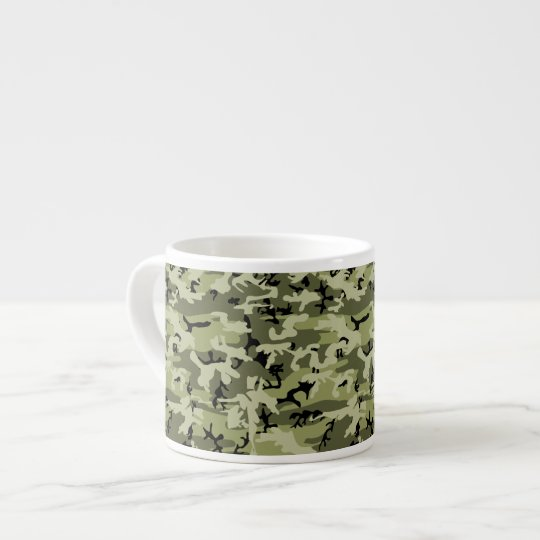 Military Camouflage Pattern - Green White Black Espresso Cup
