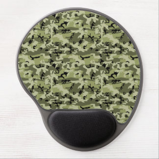 Military Camouflage Pattern - Green White Black Gel Mousepad