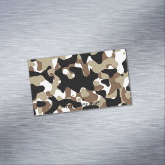 Military Camouflage Pattern Magnetic Business Card