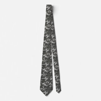 Military Camouflage Pattern Neck Tie
