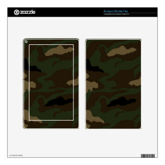 military camouflage pattern skin for kindle fire