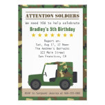 Military Camouflage Pattern Soldier Boy Birthday Custom Invite