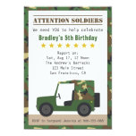 Military Camouflage Pattern Soldier Boy Birthday Custom Invite