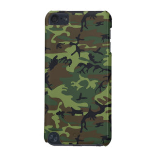 Military Camouflage Pattern, Woodland Style iPod Touch 5G Case