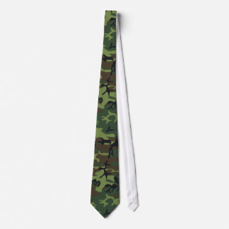 Military Camouflage Pattern, Woodland Style Neck Tie