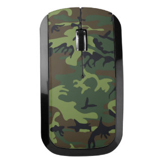 Military Camouflage Pattern, Woodland Style Wireless Mouse