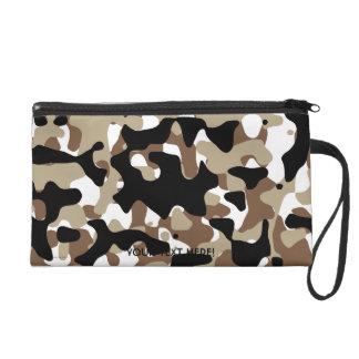Military Camouflage Pattern Wristlet Purse