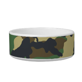 Military Camouflage Pet Bowl