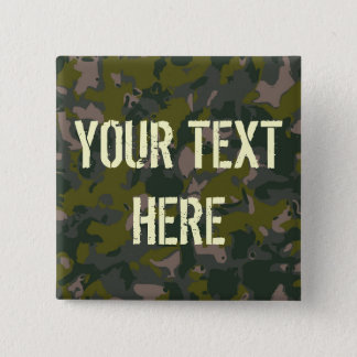Military camouflage pinback button