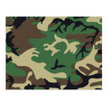 Military Camouflage Postcard