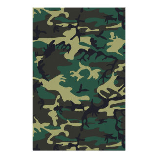 Military Camouflage Custom Stationery