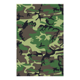 Military Camouflage Stationery