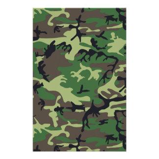 Military Camouflage Customized Stationery