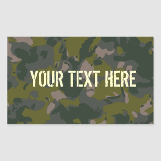 Military camouflage rectangle sticker