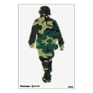 Military Camouflage Room Sticker