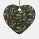 Military Camouflage Woodland Ornaments