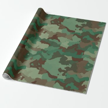 military camouflage wrapping paper